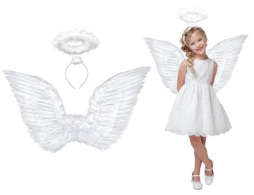 Kostým Angel Wings Aureola Betlehemská sada 70x50