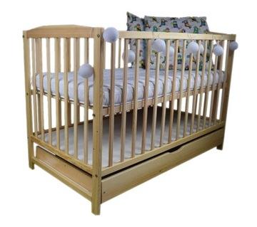 Детская кроватка OLA PINE DRAWER 120x60