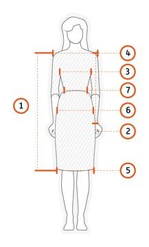 SUKIENKA XS-4XL NEW - instrukcja jak mierzyć