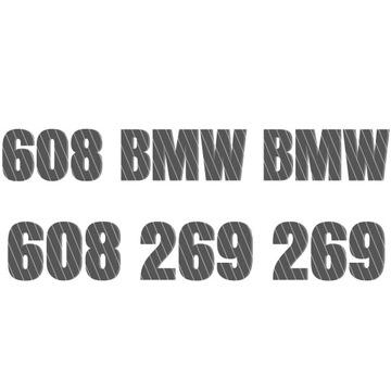 Złoty numer Dealer BMW 608 269 269 - 608 BMW BMW