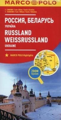 Mapa Marco Polo Rosja Białoruś Ukraina 1:2 000 000