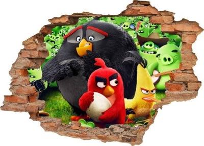 NÁLEPKY NA STENU Diera v stene ANGRY BIRDS 2