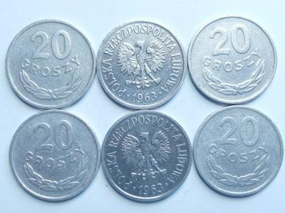 Монета 20 гр копеек 1963 года красивая