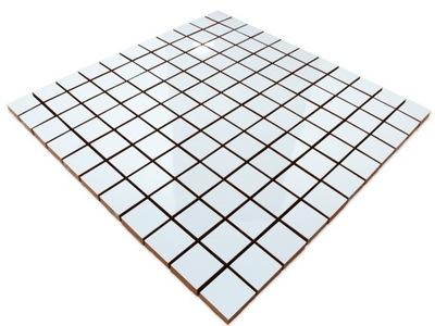 Мозаика Керамическая белая WHITE BIANCO 30х30 Планка