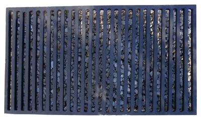 Ruszt żeliwny kominkowy ruszt pieca grill 63x36 cm