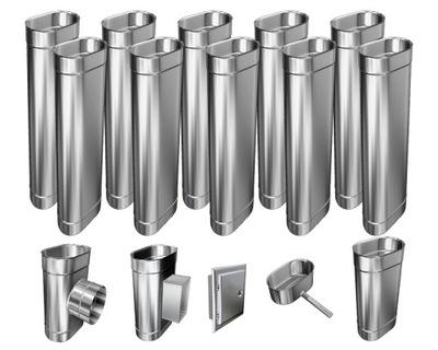 Kotol - 1mm CHIMNEY INSERT 12m 130x230 Tepelne odolný HIT