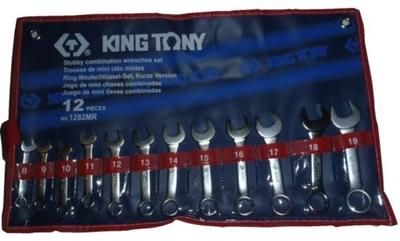 KING TONY klucze płasko oczkowe 8-19 mm krótkie