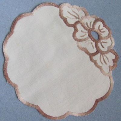 Салфетка круглая , закрасить вышивка , бронза Рукоделие