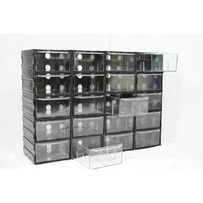 10 Kabinetu plastové zásuvky transparentné Wawa