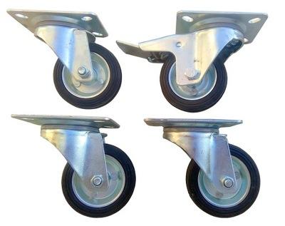 kolesa Sada 100 mm 350 kg 4 kusy 1 kus, s brzdou. kolo