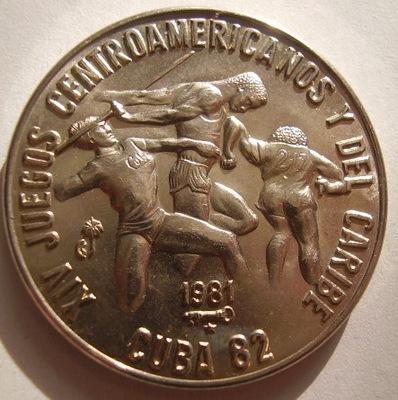 KUBA 1 peso 1981r Kuba 1982r atletyka