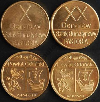 10 i 20 Denarów Gdańskich - PRÓBA - okazja !