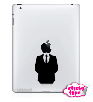 Naklejka Apple iPad 1-4, mini !!! SUITS