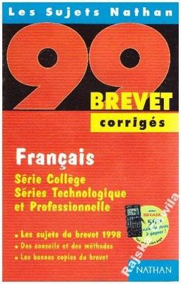 Les Sujets Nathan 99 brevet corriges Francais