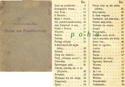 Dom na Pustkowiu 1925 Mieczysław  Ziębowski
