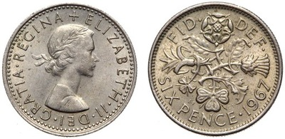 Moneta 6 Pensów 1953-1967 - kostka BRIAN MAY QUEEN