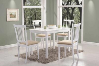 Stół drewniany biały FIORD 110x70 kuchenny stoły