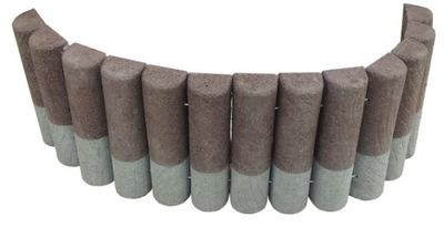 Plôtik, palisáda, obrubník - Palisádový záhradný betónový okraj