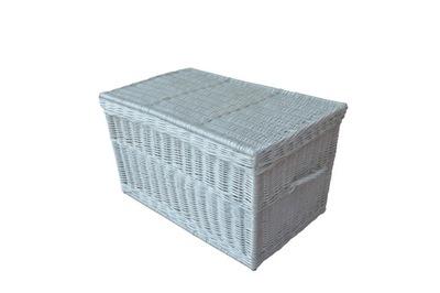 ЛАРЕЦ плетеный коробка 80 СМ - Цвет Белый