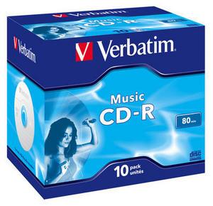 Płyty CD-R Verbatim Pro Audio 80 Minut 10szt Wawa