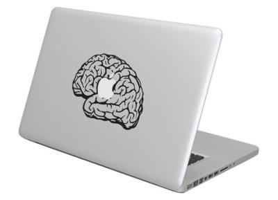 Naklejka na Macbooka Maca Apple - Mózg, Brain