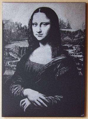 Obraz wykonany ręcznie... L.Da Vinci Mona Lisa
