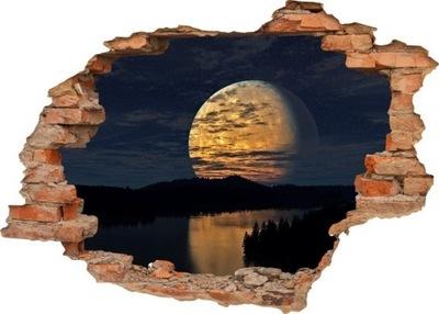 NÁLEPKY NA STENU Diera v stene MOON NIGHT