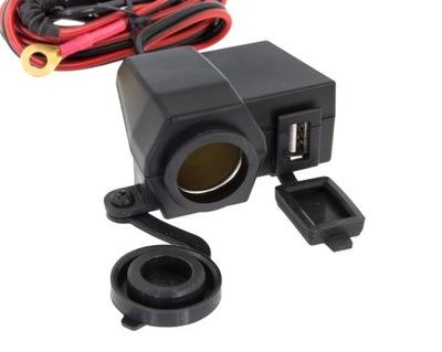 zapaĺovač MOTOCYKEL 12V USB Nabíjačka 5V
