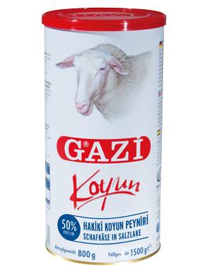 Biały ser owczy Gazi puszka 1500 g turecki