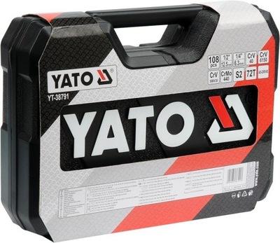 ZESTAW 108 KLUCZE NASADOWE YATO YT-3879 1   +++