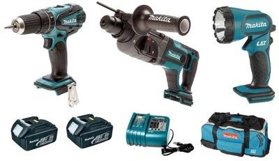 Sada nástrojov - COMBO MAKITA DLX3008 DHP456 DHR241 BML185