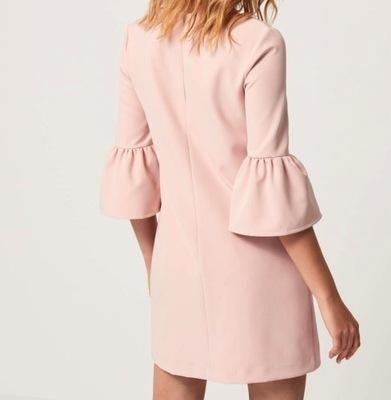 MOHITO 38 kolor pudrowy różowy, tkanina gładka