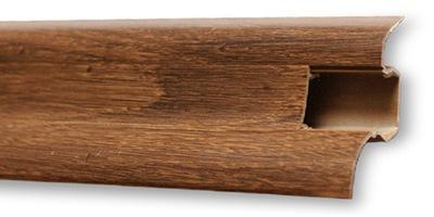 Планка напольного типа ПВХ 250 см x Пятьдесят два мм