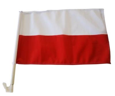 Flaga Samochodowa Polski Barwy 45x30cm Autoflaga