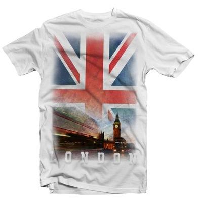KOSZULKA T-SHIRT FLAGA UK LONDYN L