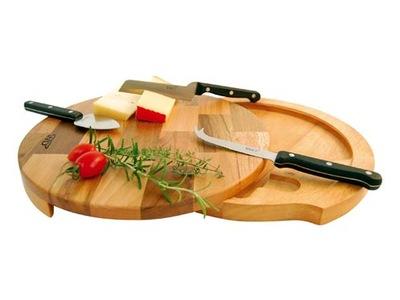 подарок доска круглая ??? Сыр с туалетно-косметическими 3 ножей