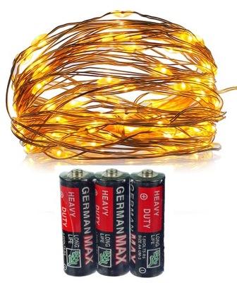 огни LED 100 МИКРО декоративные батареи  CN