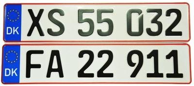 Duńskie Tablice Rejestracyjne Dania
