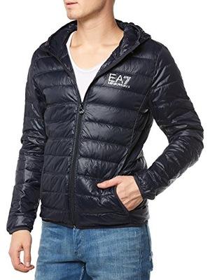 EMPORIO ARMANI EA7 pikowana kurtka z kapturem M