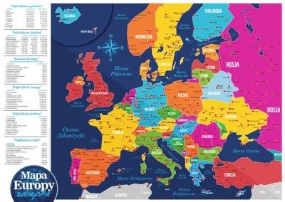 Карта Европы, скретч-карта ПРОДУКТ  ЕВРОПА