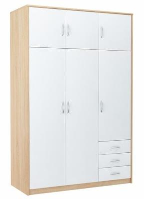 шкаф шкаф 6D3S Белый -сонома комод, стеллаж полка
