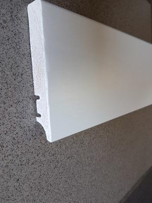 Listwa przypodłogowa drewniana biała PW95