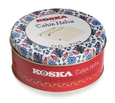 Turecka sezamowa chałwa w metalowej puszce. KOSKA.