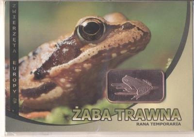 Лягушка травяная лягушка - Слиток Медь -1 унция -Блистер A6