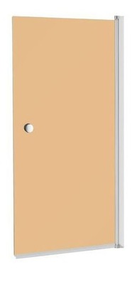 Sprchové dvere - S obrazovkou 140x70 140/70 hnedá