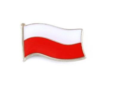 Застежка pin wpinka Флаг  польский  маленькая