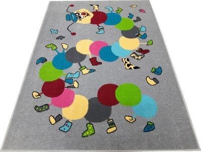 Koberec do detskej izby - Koberec FUNKY TOP 133x180IWO grafitový stonožka