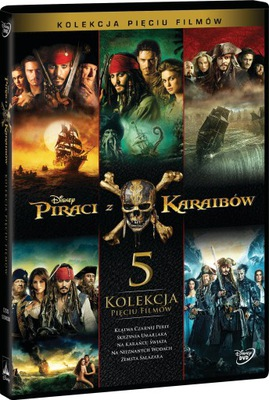 Piraci z Karaibów. Pakiet 5 filmów [BOX 5 DVD]