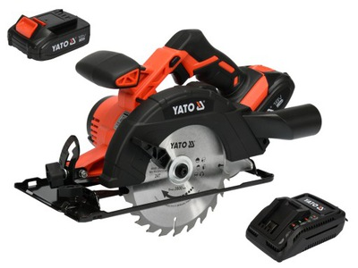 Píla - YATO 18V 165MM SAW SAW WHEEL SAW + 2.0AH BATÉRIA