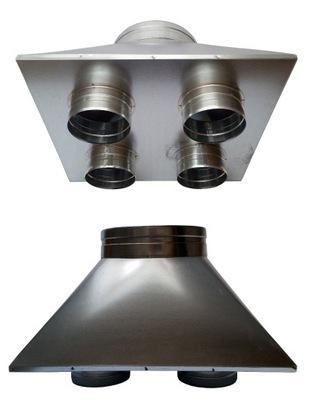 Prenos prípade 200/4x125mm kapota hadice spiro